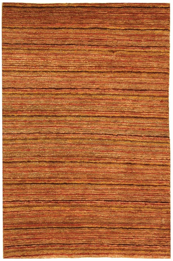 Red, Brown (A) Striped Area Rug