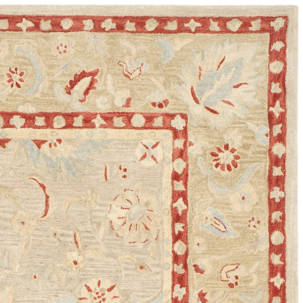Ivory, Green (A) Traditional / Oriental Area Rug