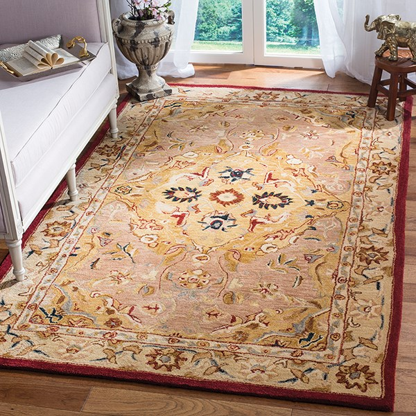 Gold, Ivory (A) Traditional / Oriental Area Rug
