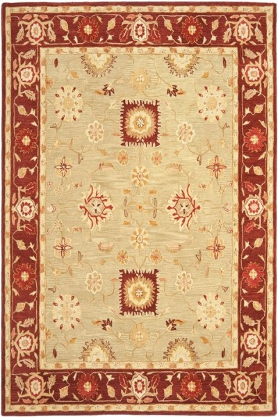 Sage, Burgundy (A) Traditional / Oriental Area Rug