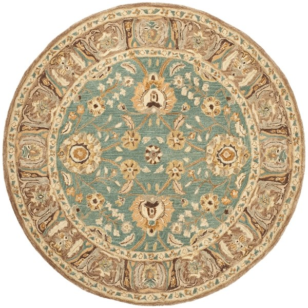Teal, Camel (D) Traditional / Oriental Area Rug