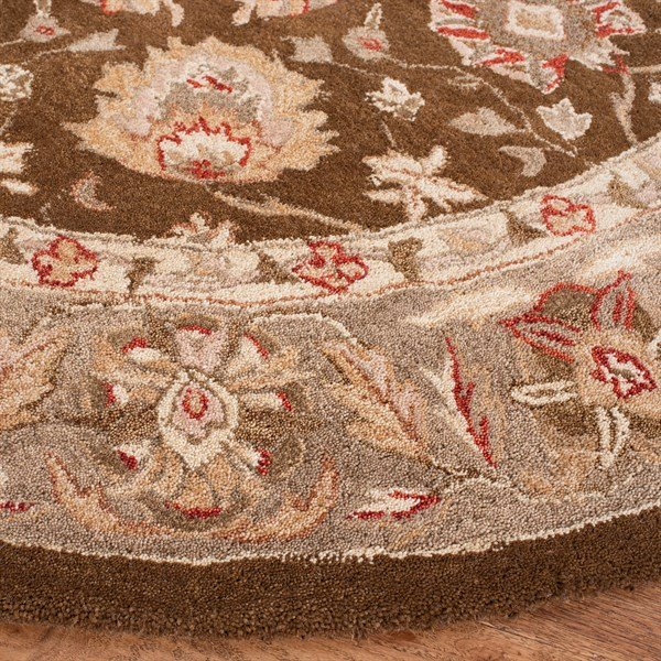 Brown, Green (F) Traditional / Oriental Area Rug