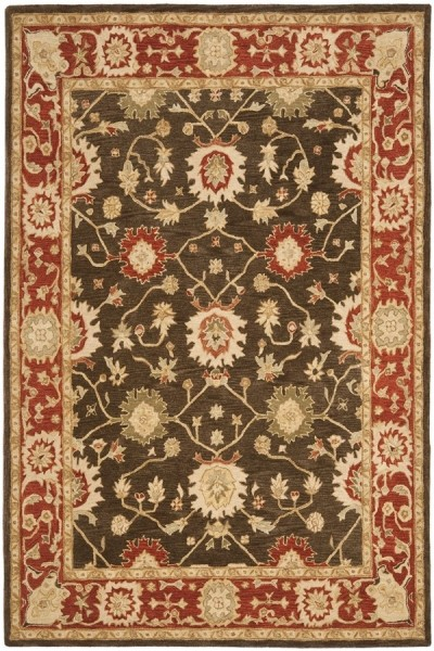 Olive, Rust (A) Traditional / Oriental Area Rug