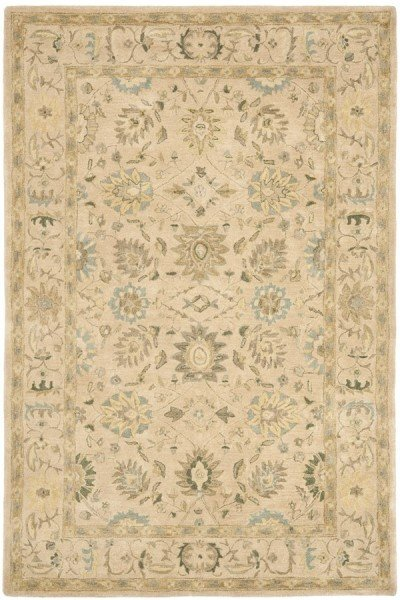 Taupe, Blue (A) Traditional / Oriental Area Rug