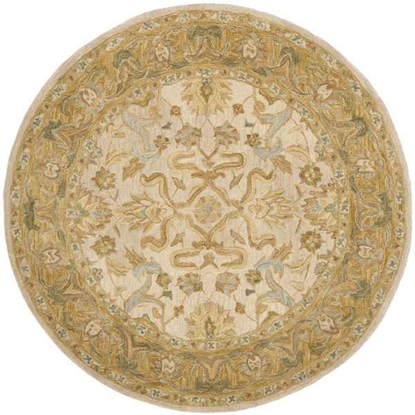 Ivory, Brown (B) Traditional / Oriental Area Rug