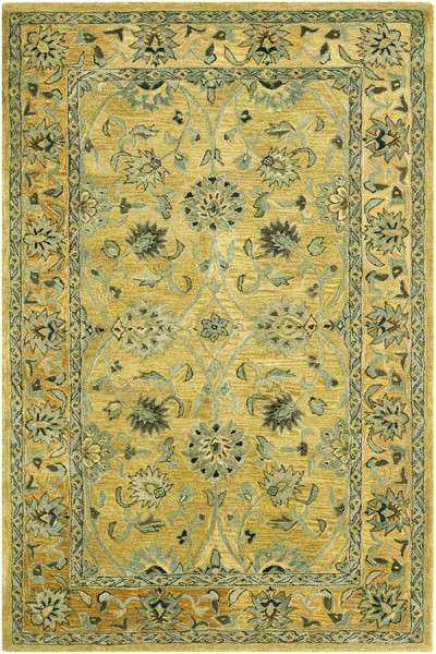 Golden Pear, Smoke (C) Traditional / Oriental Area Rug