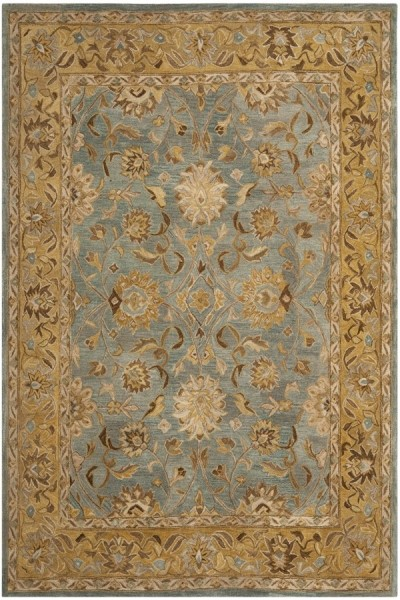 Blue, Green (G) Traditional / Oriental Area Rug
