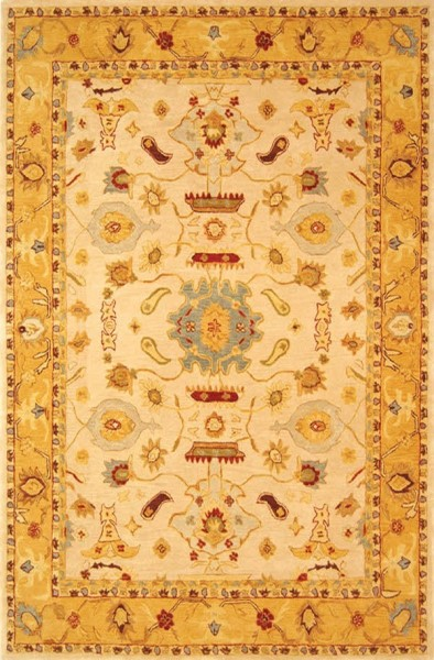 Ivory, Gold (C) Traditional / Oriental Area Rug