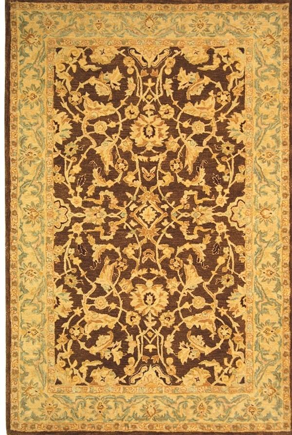 Brown, Tan (B) Traditional / Oriental Area Rug