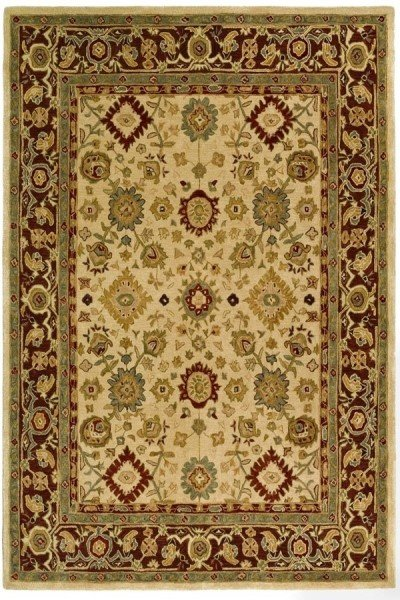 Ivory, Brown (A) Traditional / Oriental Area Rug