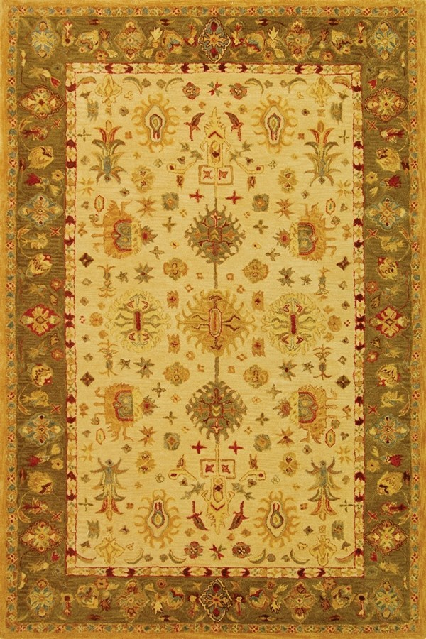 Ivory (B) Traditional / Oriental Area Rug