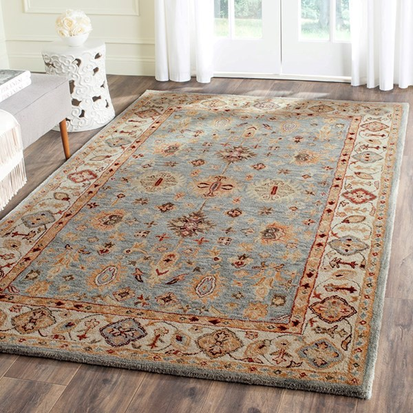 Blue, Ivory (A) Traditional / Oriental Area Rug