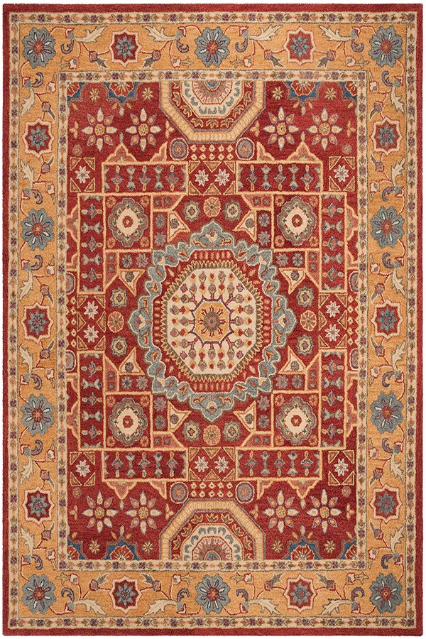 Red, Orange (Q) Traditional / Oriental Area Rug