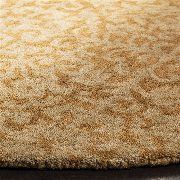 Gold, Beige (A) Transitional Area Rug
