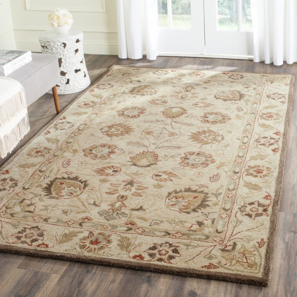 Beige, Beige (A) Traditional / Oriental Area Rug