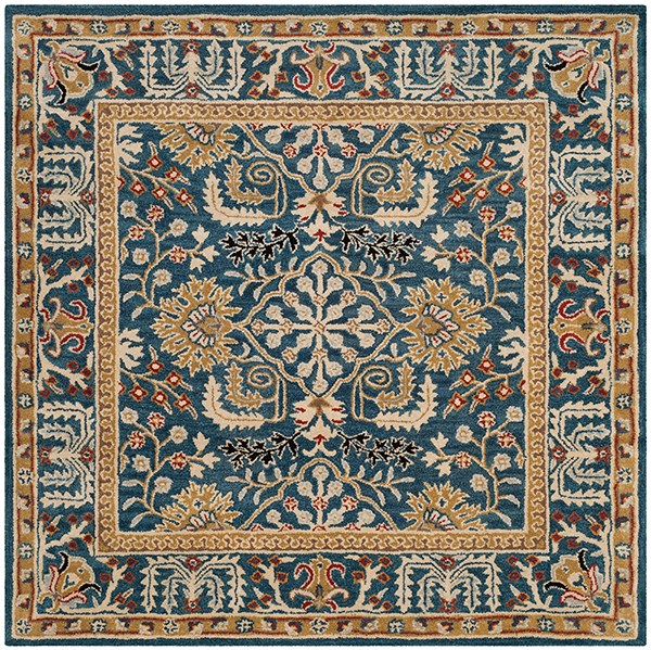 Dark Blue (B) Traditional / Oriental Area Rug