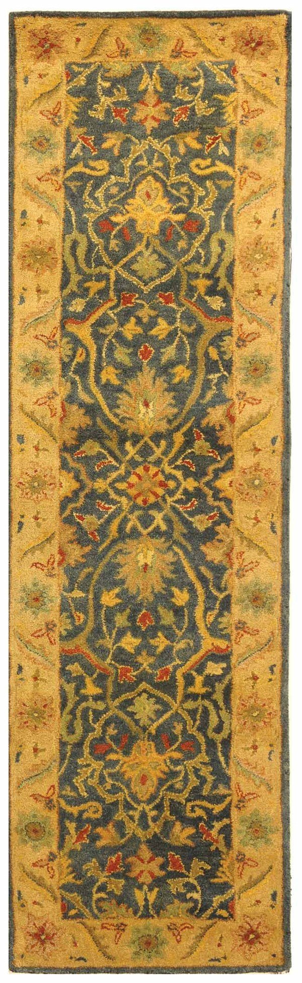 Blue (E) Traditional / Oriental Area Rug