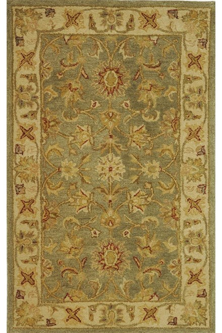 Green, Gold (A) Traditional / Oriental Area Rug
