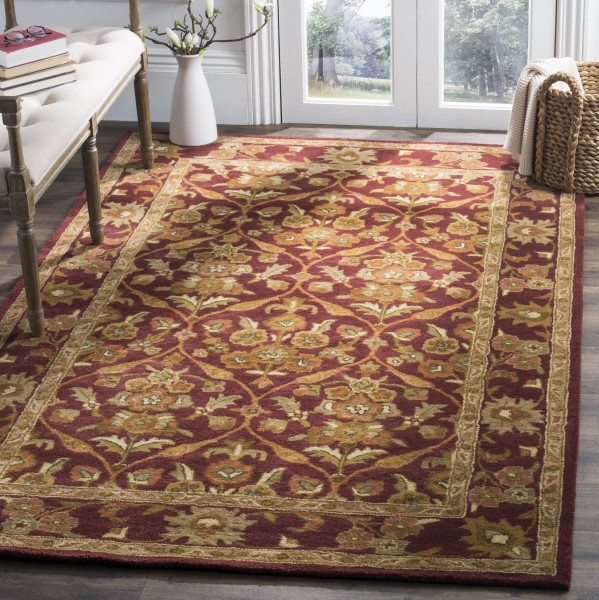 Wine, Gold (A) Traditional / Oriental Area Rug