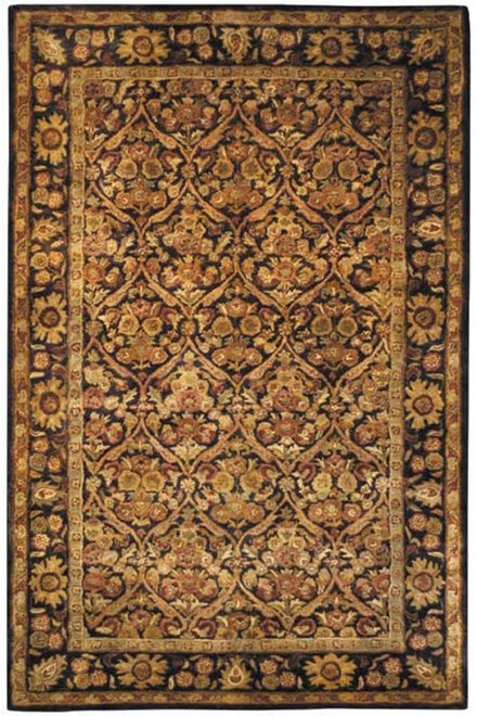 Dark Plum, Gold (B) Traditional / Oriental Area Rug