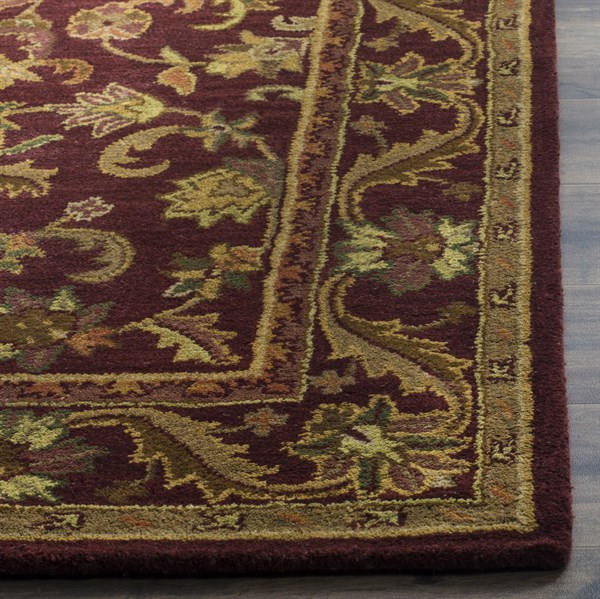 Wine, Gold (B) Traditional / Oriental Area Rug