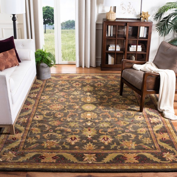 Charcoal (K) Traditional / Oriental Area Rug