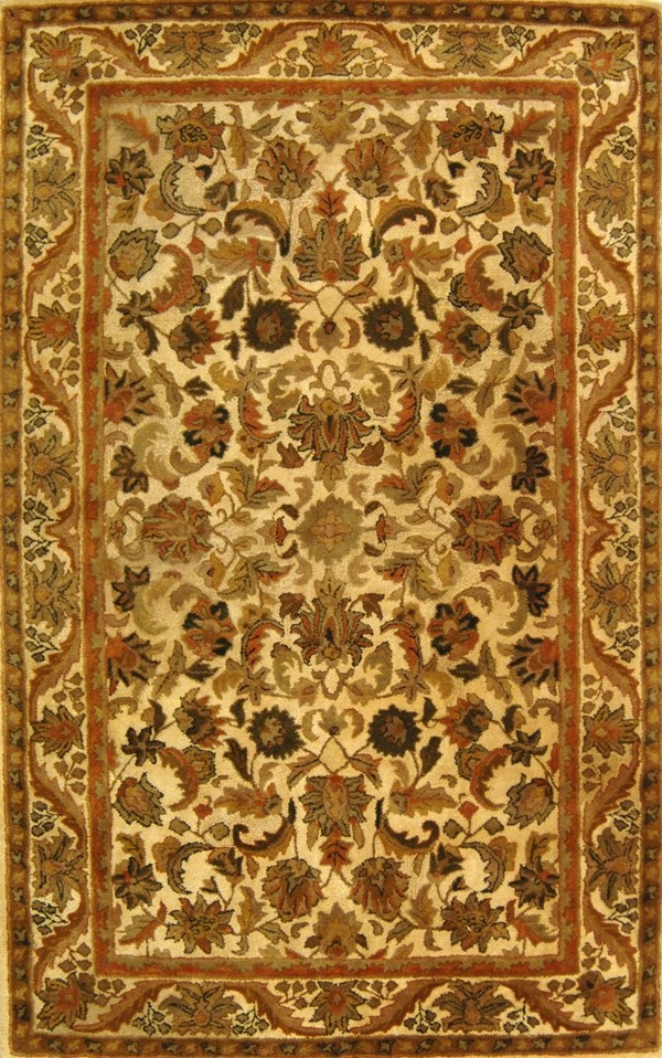 Gold (D) Traditional / Oriental Area Rug