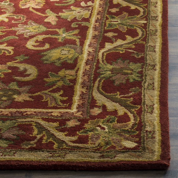 Red, Red (E) Traditional / Oriental Area Rug