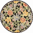 Product Image of Black, Yellow (B) Floral / Botanical Area Rug