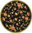 Product Image of Black, Green (B) Floral / Botanical Area Rug