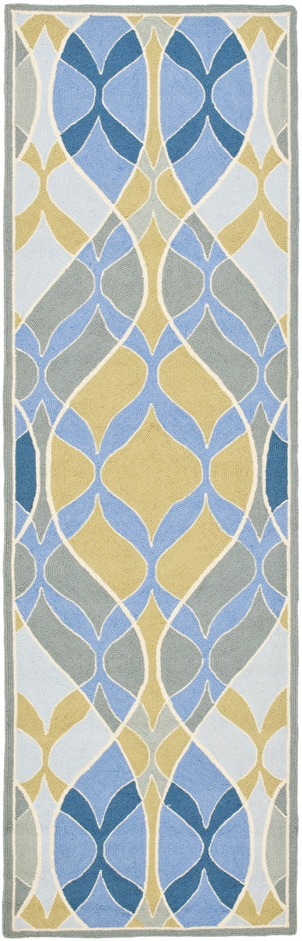 Blue, Gold (A) Moroccan Area Rug