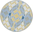 Product Image of Blue, Gold (A) Moroccan Area Rug