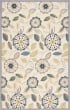 Product Image of Floral / Botanical Ivory, Blue (A) Area Rug