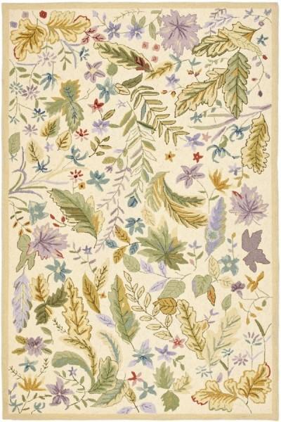 Ivory, Lilac (A) Floral / Botanical Area Rug