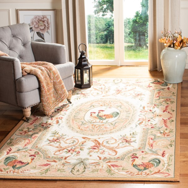 Taupe, Ivory (T) Country Area Rug