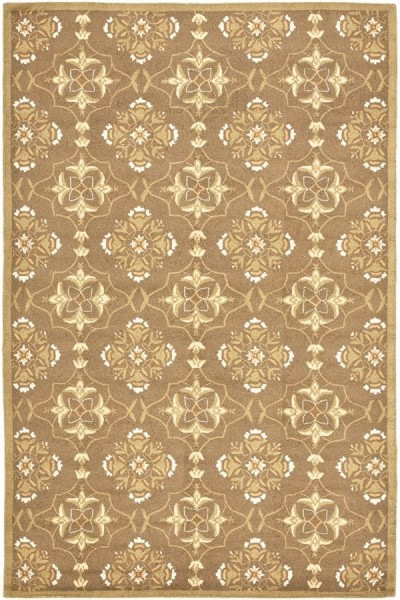 Brown, Green (C) Transitional Area Rug