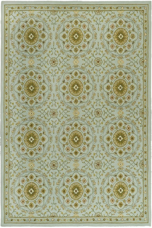 Teal, Green (A) Moroccan Area Rug