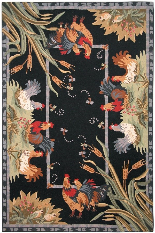 Black (B) Country Area Rug