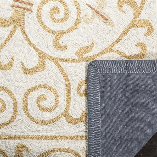 Ivory, Gold (P) Transitional Area Rug