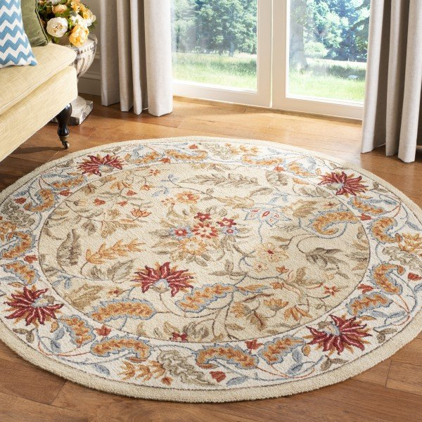 Ivory, Red (A) Traditional / Oriental Area Rug