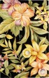 Product Image of Floral / Botanical Black, Green (B) Area Rug