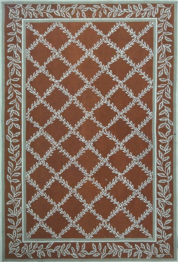 Brown, Blue (G) Traditional / Oriental Area Rug