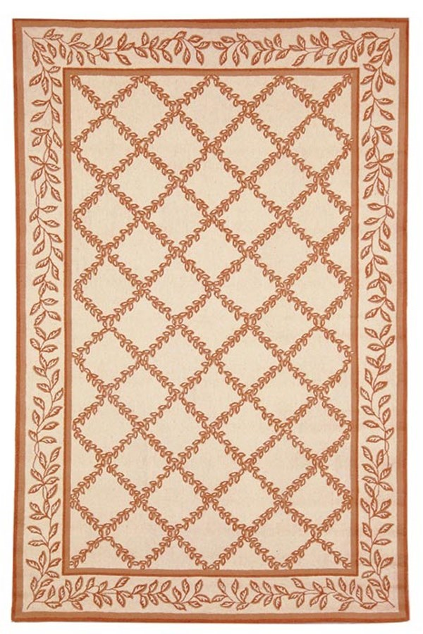 Ivory, Camel (C) Traditional / Oriental Area Rug