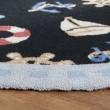Product Image of Black, Blue (B) Beach / Nautical Area Rug