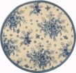 Product Image of Ivory, Blue (A) Floral / Botanical Area Rug