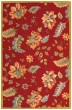 Product Image of Floral / Botanical Red, Blue (C) Area Rug