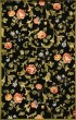 Product Image of Floral / Botanical Black, Green (B) Area Rug