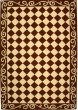 Product Image of Contemporary / Modern Brown, Ivory (B) Area Rug