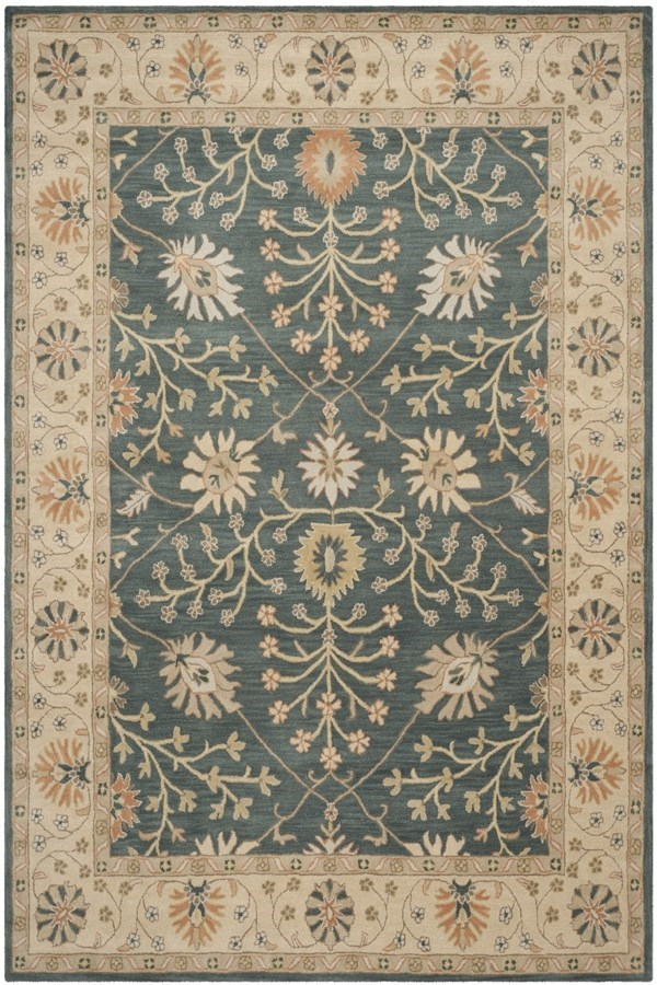 Blue, Light Gold (A) Traditional / Oriental Area Rug