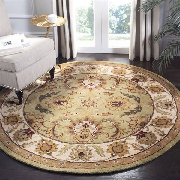 Green, Ivory (D) Traditional / Oriental Area Rug